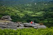 Ariel View of Dartmoor Valley in Devon