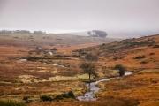 Mist over Dartmoor National Park