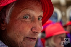 Portrait of Lady from Red Hat Society