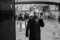 Man Speaking on a Mobile Phone