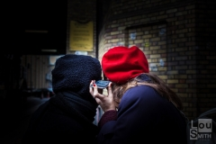 Street Photography - Listening in Shoreditch