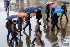 Raining in Trafalgar Square