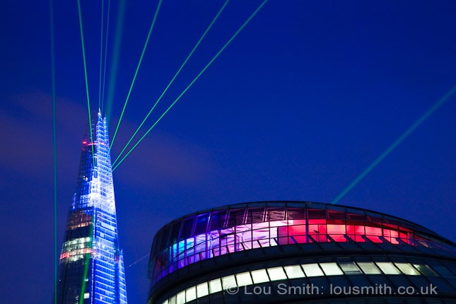 Shard Laser Light Show