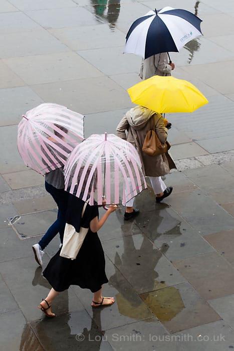 Rain Photography in London