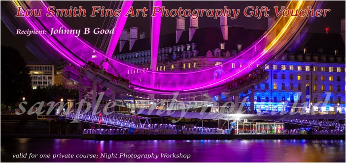 Night Photography Gift Voucher